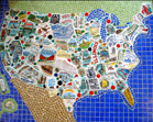 Petie and Lianne's map mosaic