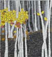 autumn birches mosaic
