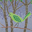 Green Bird mosaic