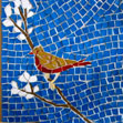 little brown bird mosaic