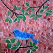 little blue bird mosaic