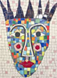 Queen Esther Mask mosaic