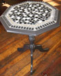 Black and white table mosaic