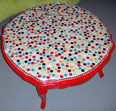 Polka dot table mosaic