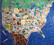 USA Map A mosaic